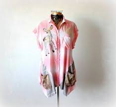 Womens Shabby Chic Clothing by Shabby Chic Top Blue Boho Hoodie Loose Drape Shirt Wearable Art
