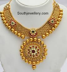 gold images necklace images 22 carat gold antique finish beautiful gold necklace from vummidi jpg