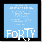 40th birthday invitations 40th birthday party invitations over the