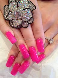 pink gel polish over acrylic overlays nails pinterest