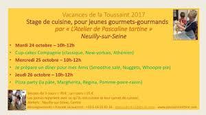 cours de cuisine neuilly sur seine vacances de la toussaint cours de l atelier de pascaline
