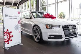 new car gift bow giving the gift of audi a guide to the ultimate audi