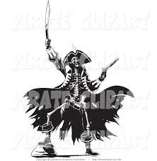 Halloween Skeleton Clip Art Vector Clip Art Of A Skeleton Pirate Man Raising Hell One Foot Up