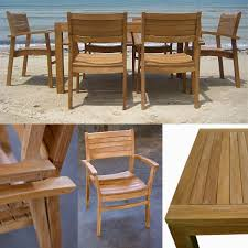 loveteak warehouse sustainable teak patio furniture 7pc coco dining set 1 lina dining table dimension 59l35dx30h 6 coco stacking chairs