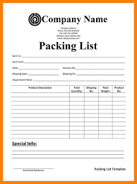 Packing List Template Excel 7 Packing List Form Protect Letters