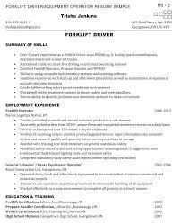 forklift resume unforgettable forklift operator resume examples