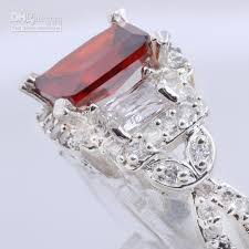gem silver rings images 2018 victorian style women complicated 7x9 red garnet gems jpg