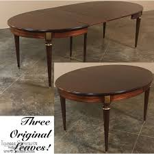 oval dining table with leaf antique french louis xvi mahogany oval dining table with 3 leaves