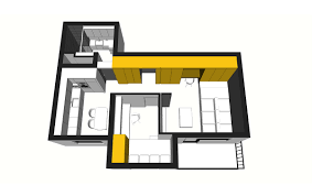 50 sq meter space saving apartment layout for young family