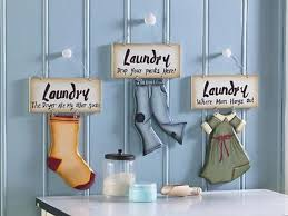 How To Decorate A Laundry Room Hanging Laundry Room Signs Wall Decor Ideas Laundry Room Wall