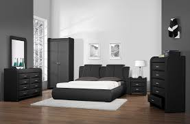 Black Leather Bedroom Sets Leather Beds Azure Faux Leather Bedroom Set
