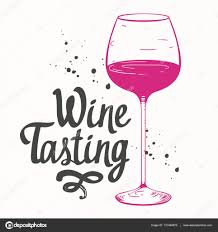 vector illustration with glass in sketch style for wine list