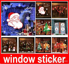 stickers for glass doors christmas new year christmas deer wall stickers shop window