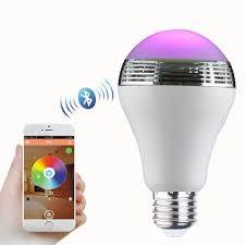 canbor wireless bluetooth speaker smart led night light bulb audio