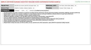 Sample Of Nursing Assistant Resume by Certified Nursing Assistant Resume Sample