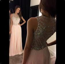 light pink beaded bodice length 2k16 prom dress high