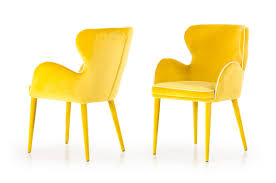Yellow Dining Chair Tigard Modern Yellow Fabric Dining Chair