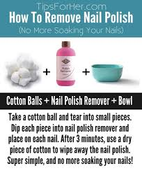 trick to remove nail polish without soaking nails