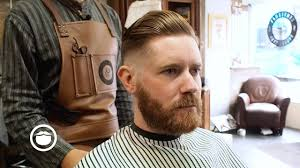 corporate pompadour with skin fade at the barbershop youtube