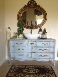 Repurposed Bathroom Vanity an old dresser was whitewashed and repurposed into a bathroom
