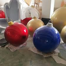 colorful large outdoor fiberglass ornaments balloon