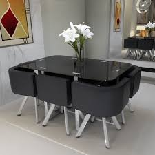 Space Saving Dining Tables And Chairs Tempered Glass Dining Table Best Gallery Of Tables Furniture