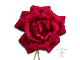 Red Rose Boutonniere Dark Red Velvet Spray Rose Boutonniere Lapel Pin Flower Fort Belvedere
