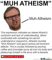 Obese Meme - muh atheism atheism know your meme