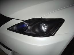 lexus is 250 headlights 2006 dark blue parking lights and blacked out headlight housings pics