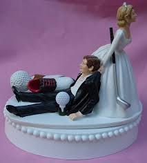 dragging groom cake topper wedding cake topper golf fan golfing groom golfer shoes