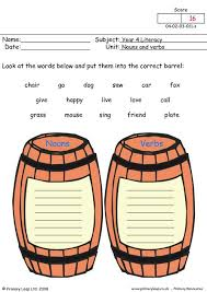 all worksheets identify nouns verbs and adjectives worksheets
