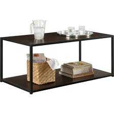 Industrial Wood Coffee Table by Ameriwood Home Canton Coffee Table With Metal Frame Distressed