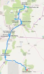 Ruidoso New Mexico Map by Enchanted Eight