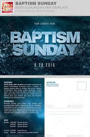 baptism sunday church flyer invite template church events
