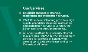 Chandelier Cleaning London Contact Us