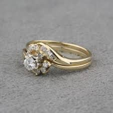 pre owned engagement rings pre owned diamond engagement ring and diamond wrap