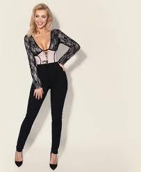 corset jumpsuit jumpsuits plunging lace up corset jumpsuit krisp