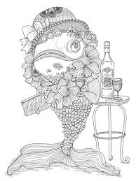 free coloring page coloring zentangle fish by artnataliia