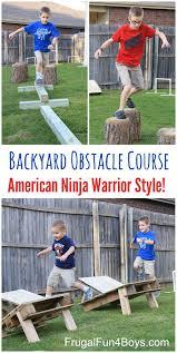 Backyard Play Ideas Diy American Ninja Warrior Backyard Obstacle Course