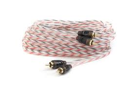 2 meter feet bassik twisted pair 2 channel ofc rca cable 2 meter 6 feet