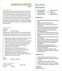 resume format exles for teachers teacher resume templates medicina bg info