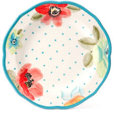 the pioneer woman country garden 105 decorated dinner plates with
