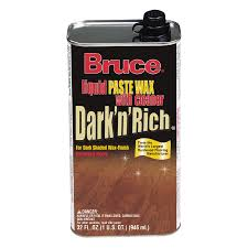 shop bruce 32 oz dark and rich wax at lowes com