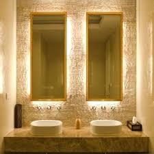 Lighted Bathroom Mirror by Wall Mirror Backlit Bathroom Wall Mirrors Lighted Bathroom Wall