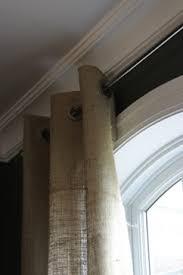 Grommet Burlap Curtains Burlap Or Canvas Curtains For Rustic Bunkhouse Cabin