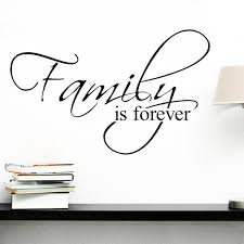 Aliexpresscom  Buy Family Is Forever Quotes Wall Decals Living - Family room quotes