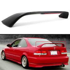 honda civic spoiler brake light 1996 2000 honda civic 2dr coupe em ej si style trunk spoiler wing w