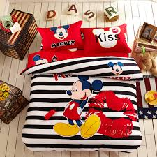 Mickey Mouse Bedroom Furniture by Mickey Mouse Comforter Set Twin And Queen Size 100 Cotton