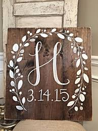 initial home decor rustic home decor initial with wedding date wood wedding sign