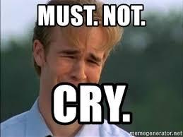 James Van Der Memes - must not cry james van der beek meme generator